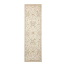 "Kathy Ireland Home Royal Serenity St James Rug, Bone, 2'3""x8'0"" Runner"