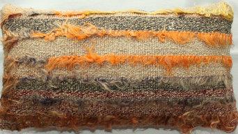 Authentic Vintage kilim cushions - Faded, Worn, Distressed, Subtle