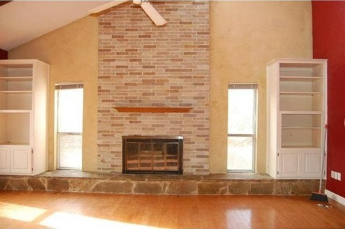 Hearth Removal On Gas Fireplace, Removing Raised Brick Fireplace Hearth