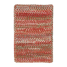 """Capel Rugs - Ocracoke Cross Sewn Braided Rectangle Rug, Pink, 1'8""""x2'6"""" - Area Rugs"""