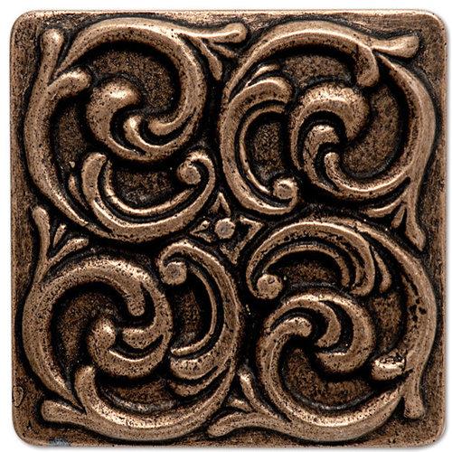 """Copper Decorative 4"""" Square - Tile"""