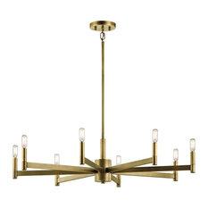 Chandelier 8-Light, Natural Brass