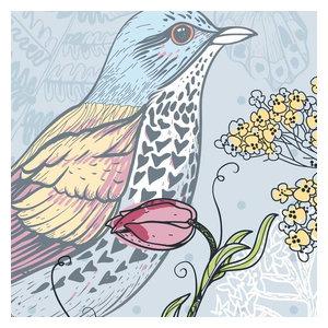 Flora and Fauna Wallpaper, 1 Strip