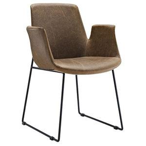 Radford Dining Armchair, Brown