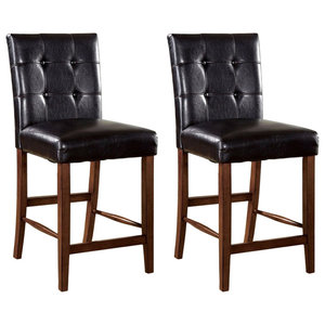 Rockford I Contemporary Pub Chairs, Dark Oak, Set of 2