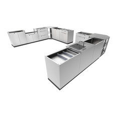 Residence - Wilson Outdoor Kitchen Cabinetry Set, Stainless Steel - Outdoor Cooking