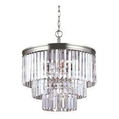 Sea Gull Lighting 4-Light Chandelier, Brushed Nickel
