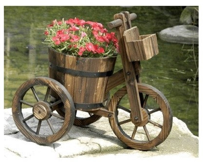 Tricycle Garden Planters And Wheelbarrow Planter Carts   Outdoor Pots And  Planters