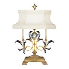 Fine Art Lamps Beveled Arcs Gold Table Lamp