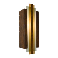 Empire Wall Sconce, Butternut and Caramel, Bulb Type: E12