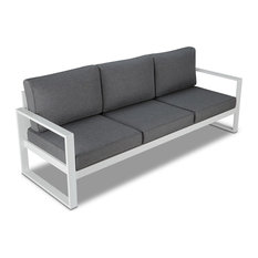 Baltic Sofa in White by Real Flame