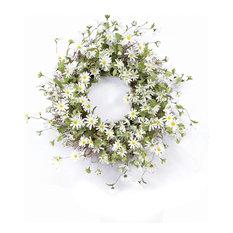 Daisy Wreath, White