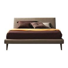 JNM Furniture - Metropolitan Modern Style Upholstered Bed, King Bed - Platform Beds