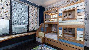 Детская комната для мальчика 15 кв.м.