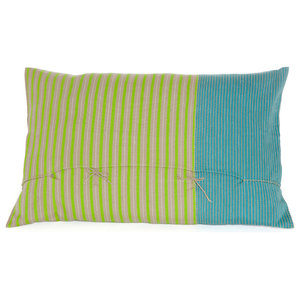 Abuela Cushion Cover, Turquoise And Green