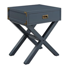 Pemberly Row Nightstand, Graphite Blue