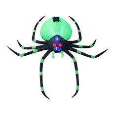 Large Halloween Inflatable Green Spider,6'