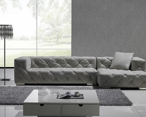 Exclusive Tufted 100% Italian Leather Sectional - Sectional Sofas : 100 genuine leather sectional - Sectionals, Sofas & Couches