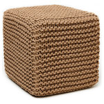 Anji Mountain - Charleston Square Jute Pouf, Tan - Bring some stylish versatility to your living space with the Charleston Jute Pouf. Perfectly sized for duty as a stool or an ottoman, the Charleston is ready to switch gears at a moment's notice. It sits nice and firm for excellent support yet offers a touch of comfort with a natural jute cover.