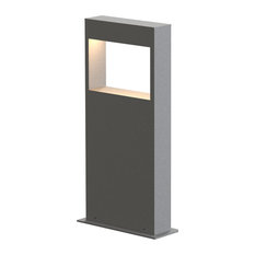 "Inside Out Light Frames 16"" LED Bollard, Textured Gray Finish"