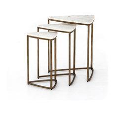 Hampton End Table/Raw Brass