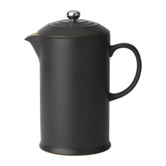 Le Creuset Stoneware Cafeteria With Metal Press, Satin Black