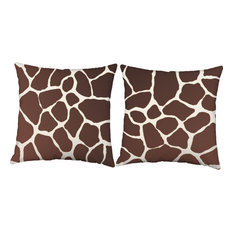 Giraffe Print Throw Pillows, In/Outdoor Covers and Cushions