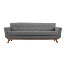 east end imports upholstered sofa in expectation gray sofas - Grey Tufted Sofa