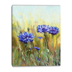 """Cornflowers in Full Bloom"" Canvas Print, 30""x40"""