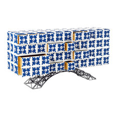 """Arc"" Hand-Painted Tile Sideboard, Large"