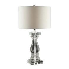 Viatala Collum Table Lamp 28.5-inch Height Crystal Crystal Finish