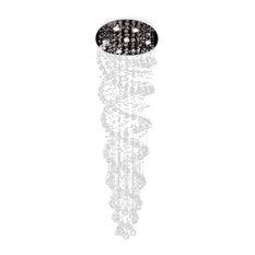 Spiral chandeliers houzz gallery lighting modern spiral rain drop chandelier with crystal balls chandeliers aloadofball Image collections