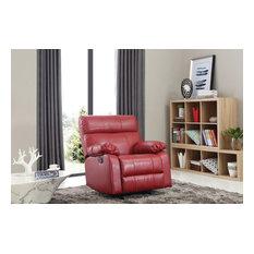 Clarke Rocker Recliner Red Faux Leather