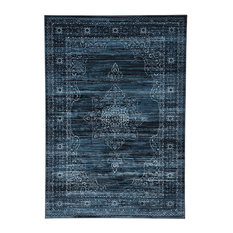 - Miss Amara | Soma Delicate Traditional Style Blue Rug - Rugs