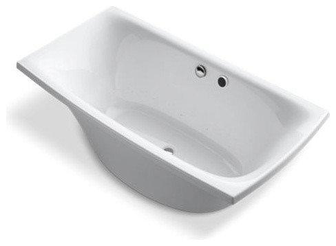 "Escale(R) 72"" x 36"" freestanding BubbleMassage(TM) Air Bath - Bathtubs"