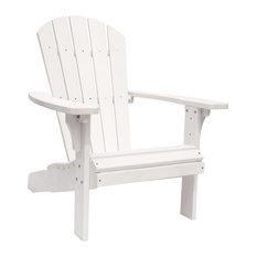 Royal Palm Adirondack Chair, White