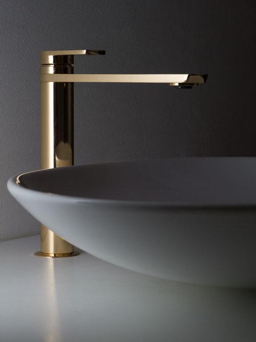 Kara Gold Tall Basin Tap Bathroom Sink Faucets