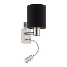 Pasteri Black and Copper Wall Light With LED Reading Arm
