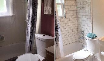 Small retro style bathroom