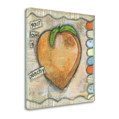 """""""Your Love Is Peachy"""" By Denise Braun, Giclee Print on Gallery Wrap Canvas"""