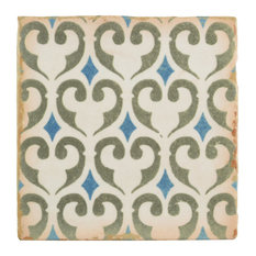 """SomerTile 4.88""""x4.88"""" Archivo Ceramic Floor/Wall Tile, Khazana"""