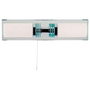 Bathroom Lighting Double IP44 Rated Mirrored Back Plate Wall Light
