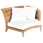 """Oasiq - OASIQ Limited 200 Sectional, Right With Canvas Natural Cushions - The Limited collections fused the best of contemporary designs with the finest teak. There are several styles that will accommodate your needs. Limited collections can be used in any environment, at your beach house or simply in your al fresco kitchen. The best is, this collection is in stock and ready to ship.  Seat height: 9"""""""