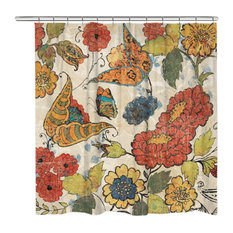 Laural Home Heirloom Floral Shower Curtain