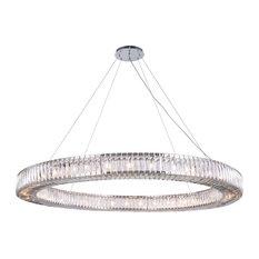 36-Light Chrome Chandelier Clear Crystal