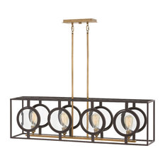 Hinkley Fulham Chandelier 4-Light Linear, Buckeye Bronze