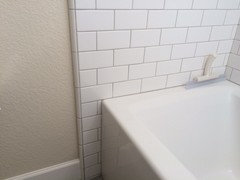 How Far Out Beyond Tub Shower To Tile