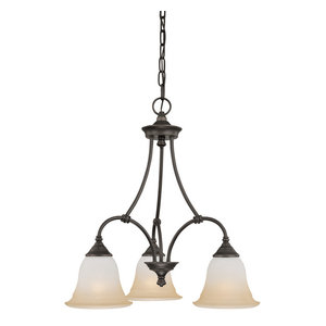 Thomas Lighting SL8803 3 Light Mini Chandelier from the Harmony Collection
