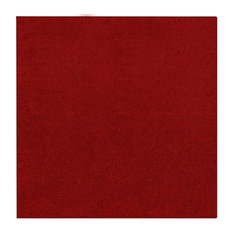 Solid Color Red Area Rug, 14'x14' Square