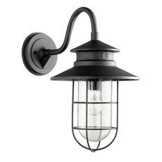Moriarty 1 Light Outdoor Wall Light in Noir